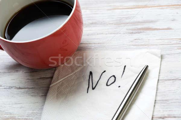 Word NO on napkin Stock photo © adam121