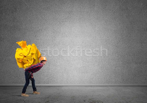Ingenieur man laden bouwer Stockfoto © adam121