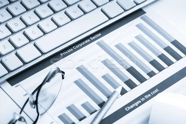 átlagos eladó jelentés üzlet munkahely billentyűzet Stock fotó © adam121