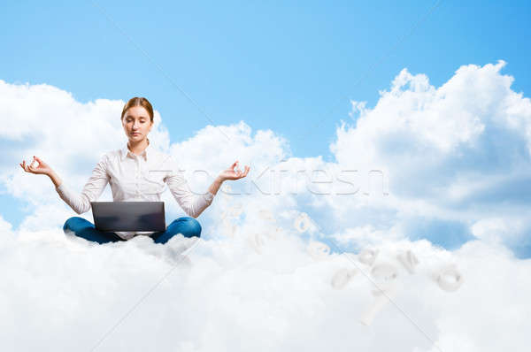 Meditation in the clouds Stock photo © adam121