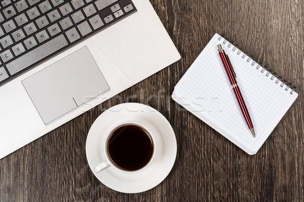 Işyeri işadamı natürmort defter kalem kahve Stok fotoğraf © adam121