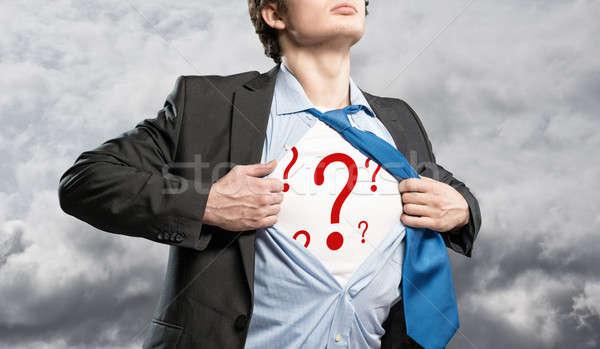 businessman breaks the shirt Stock photo © adam121