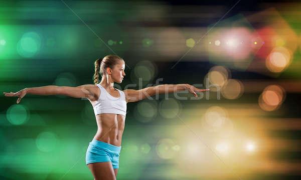 фитнес девушки спорт женщину шорты Top Сток-фото © adam121