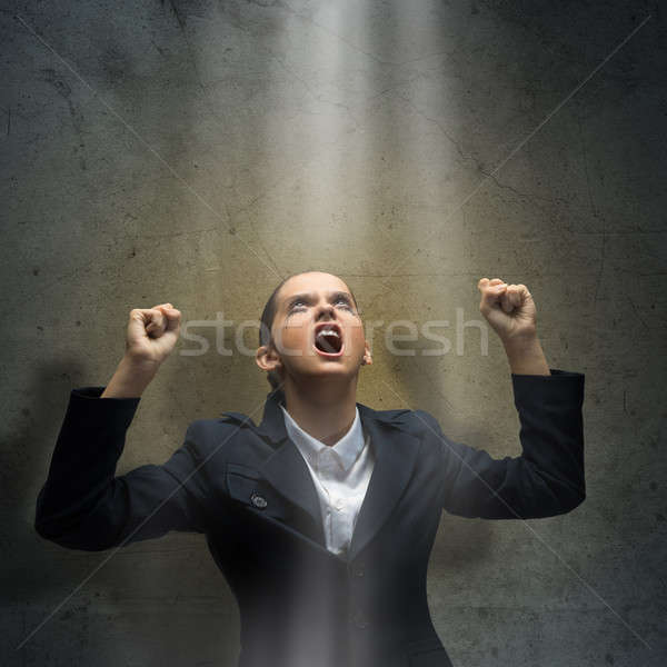 Angry businesswoman Stock photo © adam121