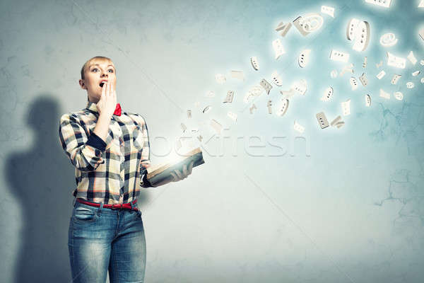 Girl with book Stock photo © adam121
