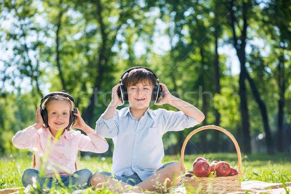 Children enjoying music Stock photo © adam121