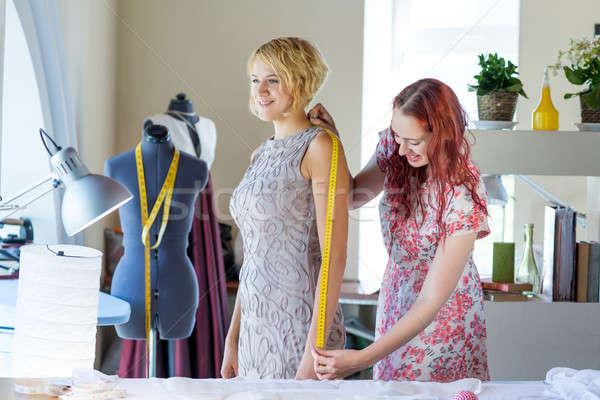 Dressmaker at work Stock photo © adam121