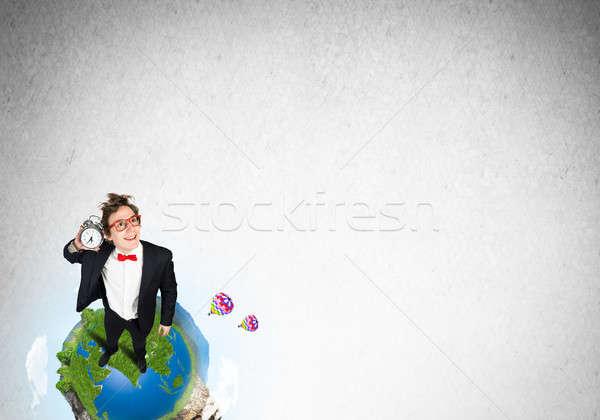 Comic businessman in red glasses Stock photo © adam121