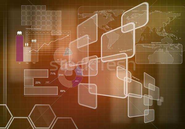 Innovador digital imagen diagramas Foto stock © adam121