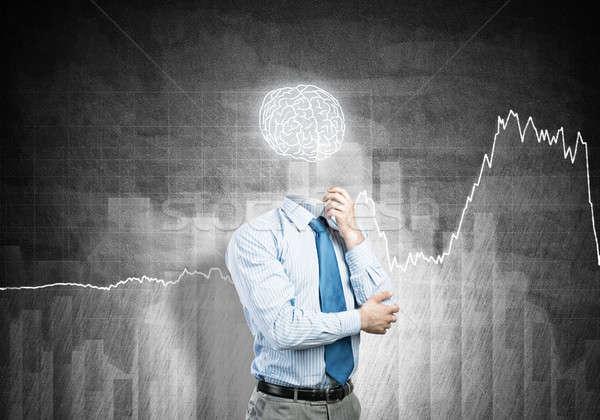 Brain headed businessman Stock photo © adam121