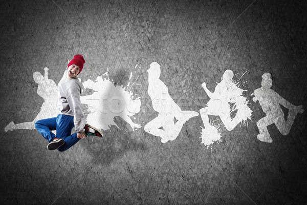 хип-хоп танцовщицы молодые Перейти серый Сток-фото © adam121
