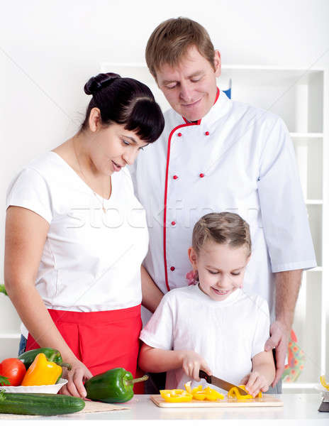 family cooking together Stock photo © adam121
