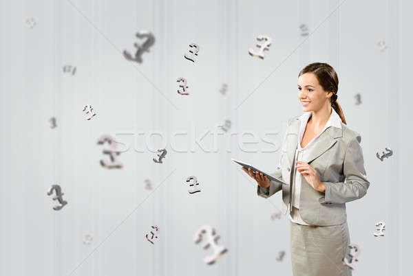 business woman with a tablet Stock photo © adam121