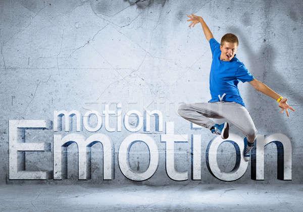 Dançarina imagem moço dança colagem Foto stock © adam121