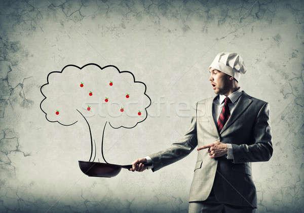 Stock fotó: üzlet · növekedés · jóképű · üzletember · visel · szakács
