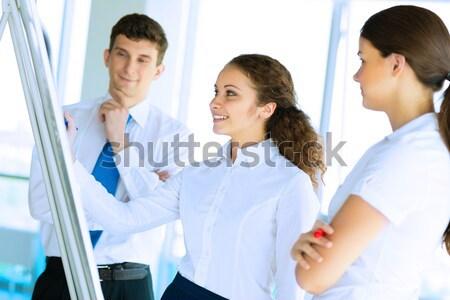 Umsatz Berater zeigen Zimmer sprechen Stock foto © adam121