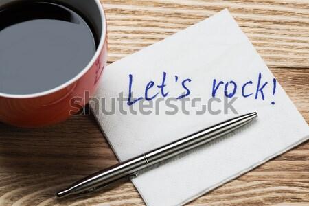 Bericht geschreven servet beker koffie business Stockfoto © adam121