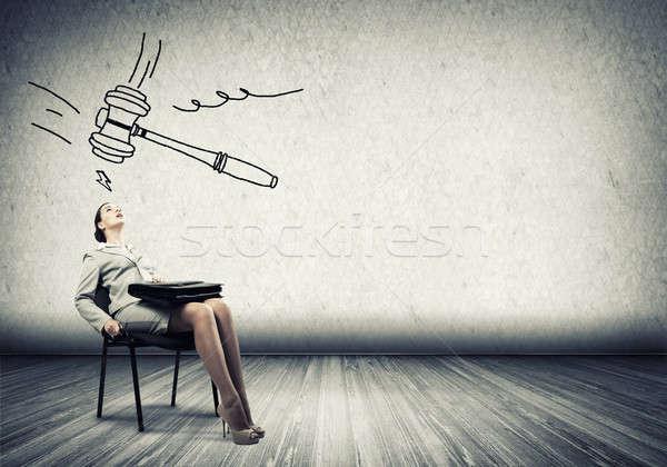 Businesswoman under pressure Stock photo © adam121