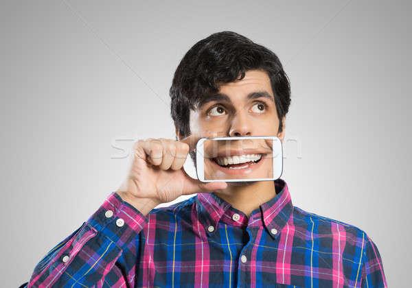 Man with mobile phone Stock photo © adam121