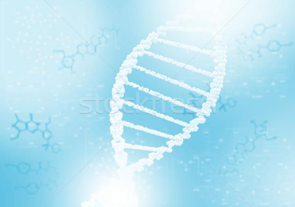 Dna Helix wissenschaftlichen abstrakten medizinischen Stock foto © adam121