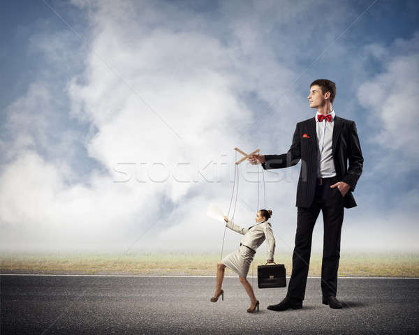 puppeteer and business woman Stock photo © adam121