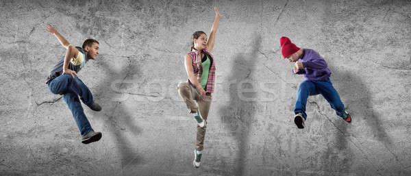 хип-хоп танцоры группа танцовщицы Перейти цемент Сток-фото © adam121