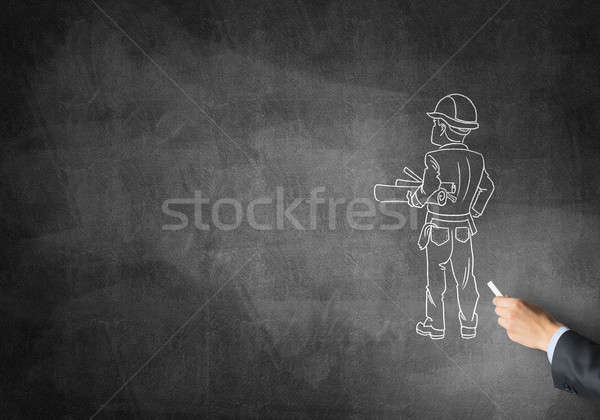Caricature of builder man Stock photo © adam121