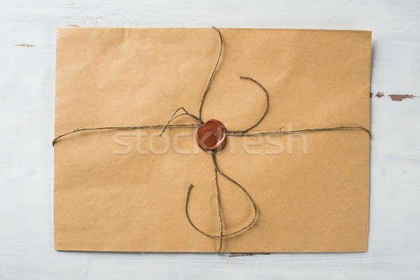 Letter with seal on table Stock photo © adam121