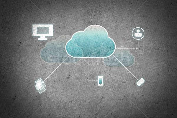 Computing cloud Stock photo © adam121