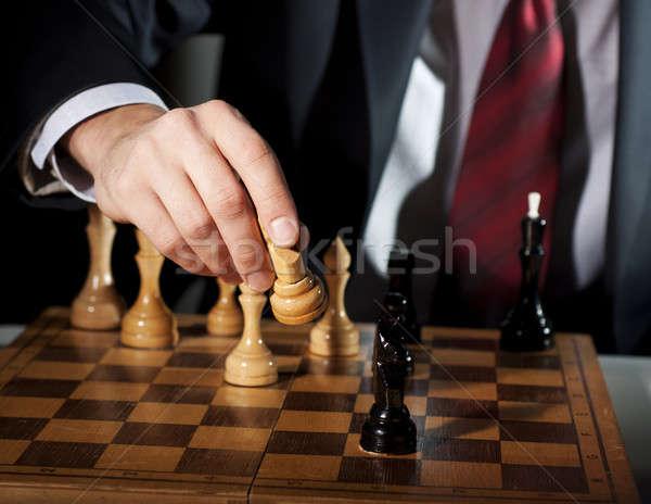Foto stock: Empresário · negócio · mão · homem · tabela · corporativo
