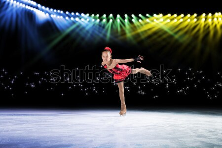 Stock photo: performance of young skaters, ice show