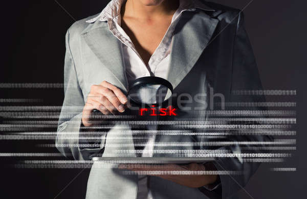 Business woman found risks in information security Stock photo © adam121