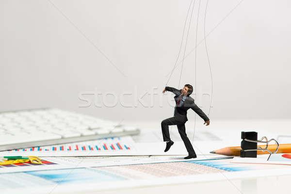 Affaires marionnette poupée bureau passé papeterie Photo stock © adam121