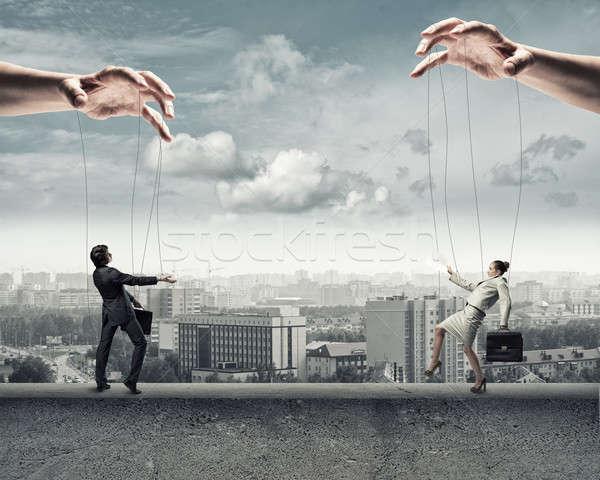 два марионеточного бизнесмен изображение Постоянный другой Сток-фото © adam121