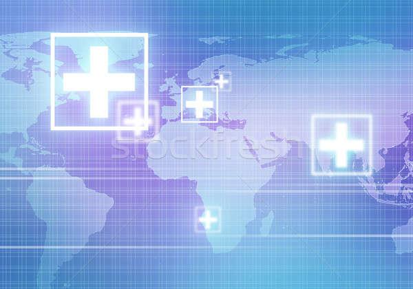 Foto stock: Moderno · medicina · digital · imagem · símbolo · abstrato