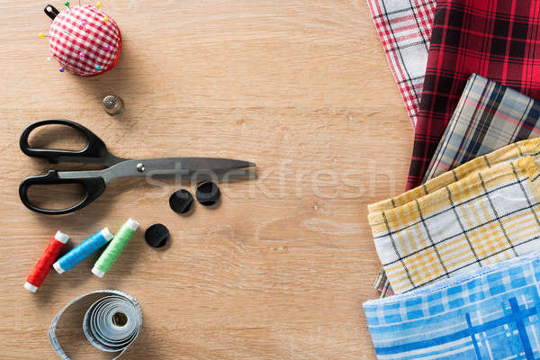 Stock photo: Sewing kit on table