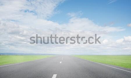 Vinden manier natuurlijke zomer landschap asfalt Stockfoto © adam121