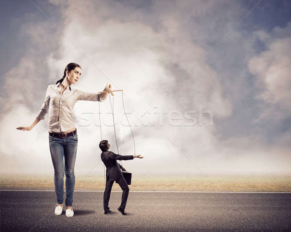 Сток-фото: бизнесмен · контроль · бизнеса · человека · работу