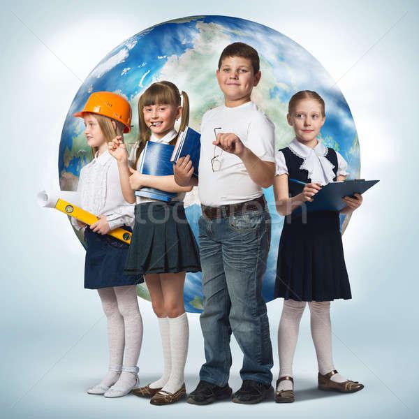 Jövő hivatás gyerekek iskola kor különböző Stock fotó © adam121