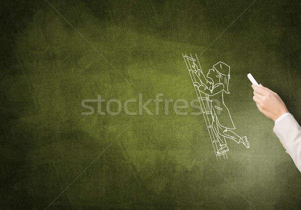 Karikatúra nő orvos női kéz rajz Stock fotó © adam121