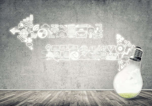 Eficaz marketing idéias vidro Foto stock © adam121