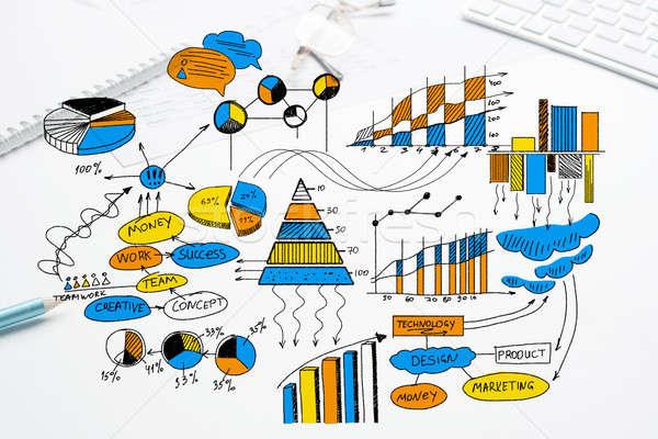 плана прибыльный бизнеса цвета Бизнес-стратегия эскиз Сток-фото © adam121