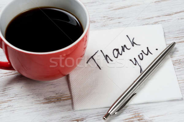 Stock photo: Message written on napkin