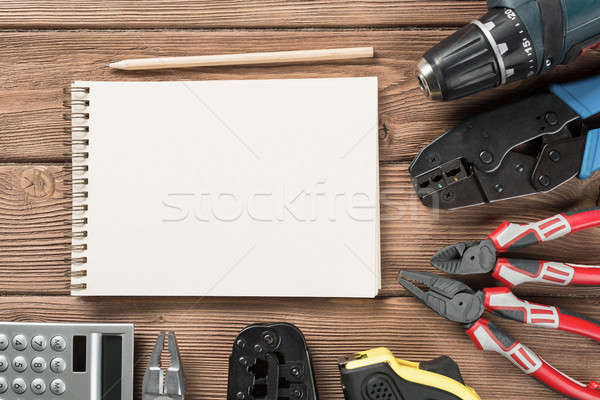Instruments on wooden table Stock photo © adam121
