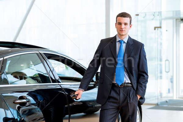 Satıcı yeni araç showroom bir el araba Stok fotoğraf © adam121