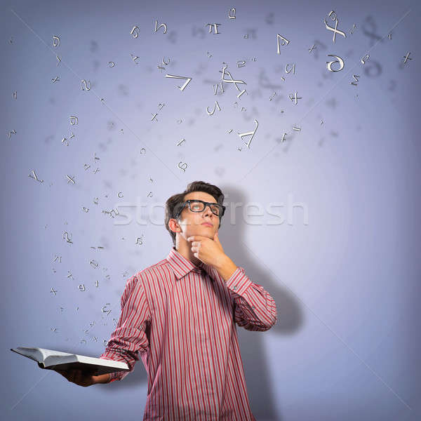 young scientist holding a book Stock photo © adam121
