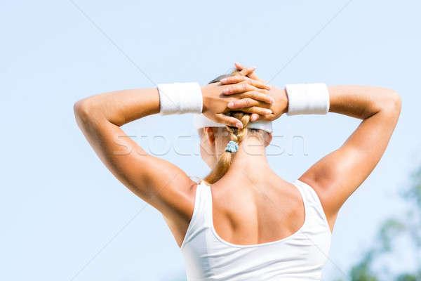 Mujer corredor jóvenes deporte pie Foto stock © adam121