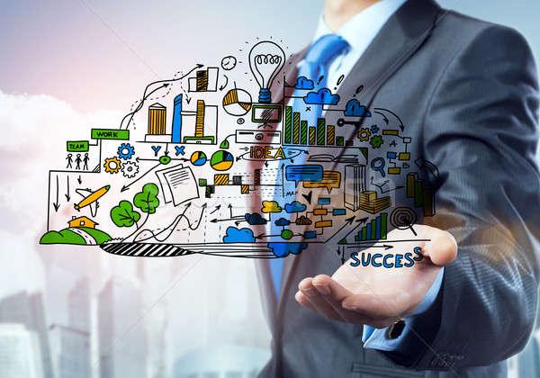 Man business ideeën sluiten zakenman Stockfoto © adam121