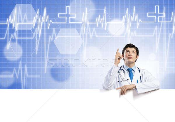 Médico banner jóvenes guapo blanco Foto stock © adam121