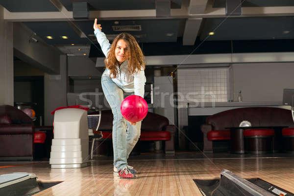 Piacevole palla da bowling target sorridere Foto d'archivio © adam121